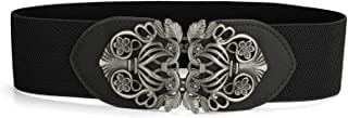 uxcell® Wide Elastic Vintage High Stretchy Retro Waist Belt with Buckle for Women