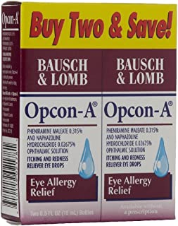 Opcon-A Eye Allergy Relief Itching & Redness Reliever Eye Drops . 5 Fl Oz