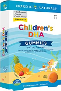 Nordic Naturals Children's DHA Gummies, Tropical Punch - 30 Gummies - 600 mg Total Omega-3s with EPA & DHA ...