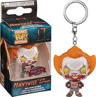 Funko FU40654 POP! Key Chain: Pennywise with Skateboard Exclusive - IT Chapter 2