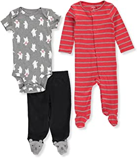 dd3cb8f2c2ffb Carter s Pantalon et ensemble de combinaison 3 pièces ours polaire pour  bébé garçon 3 mois Rouge
