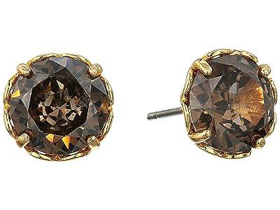Kate Spade New York That Sparkle Round Earrings (Black Diamond) Earring