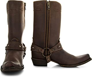 Men's Brown Harness Boots H7003
