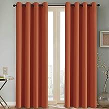 H.VERSAILTEX Thermal Insulated Blackout Room Darkening Nursery/Baby Care Curtains,Grommet Panels, 52 by 84 - Inch - Burnt Orange - Set of 2