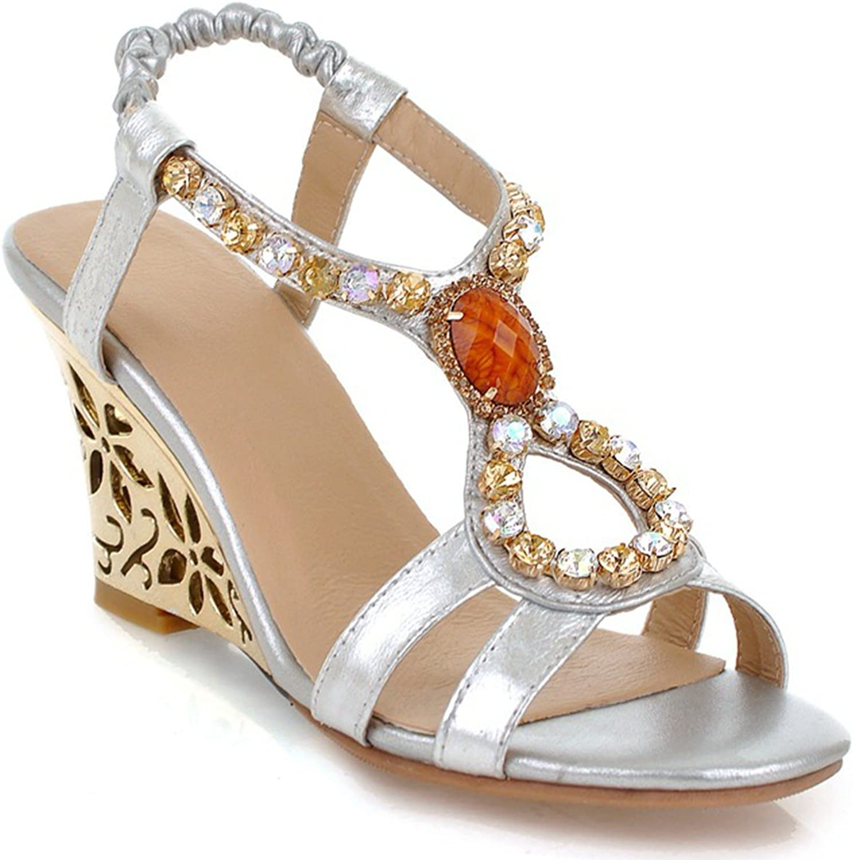 DoraTasia Women's Summer Fashion Design Ankle Mid High Wedge Heel Buckle Sandals