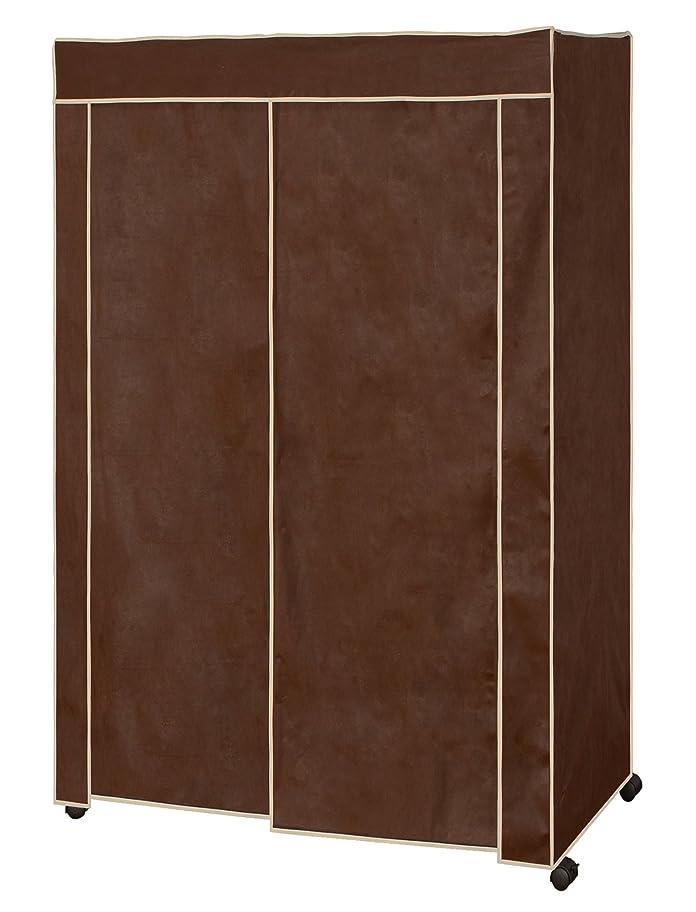 イデオロギー関連付けるおんどりカバー付スチールハンガー(120幅) ブラウン