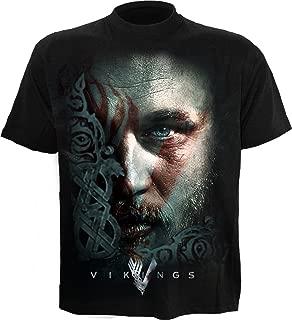 Spiral - Mens - Ragnar FACE - Vikings T-Shirt Black