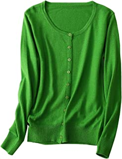 NAWONGSKY Women's Cashmere Button Down Cardigan Sweater