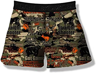 GLUDEAR Mens Funny 3D Galaxy Animal Printed Boxers Novelty Humorous Boxer Shorts Underwear