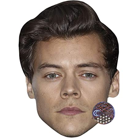 Short Hair Harry Styles Maschere di persone famose facce di cartone
