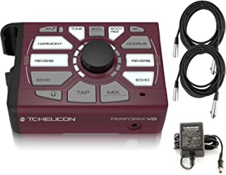TC Helicon Perform VG Vocal Effects Processor Bundle with (2) 20 ft XLR Cables