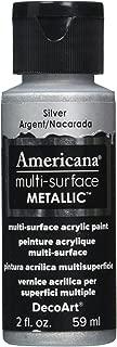 DecoArt Americana Multi-Surface Metallic Paint, 2-Ounce, Silver