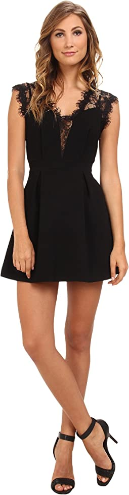Sleeveless V-Neck Shirt Cocktail Dress GEF68B66