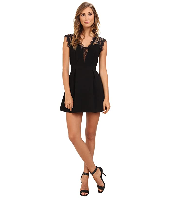 BCBGeneration Sleeveless V-Neck Shirt Cocktail Dress GEF68B66 (Black) Women