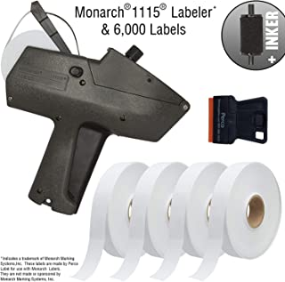 Monarch 1115 Price Gun with Labels Starter Kit: Includes Price Gun, 6,000 White Pricing Labels, Inker and Label Scraper
