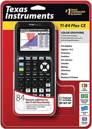 $167 » Texas Instruments TI-84 Plus CE Graphing Calculator, Black (Renewed)