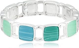Nine West Women's Turquoise Stretch Bracelet, Size: 0