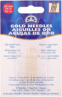 DMC 6132 Embroidery Hand Needles, Gold