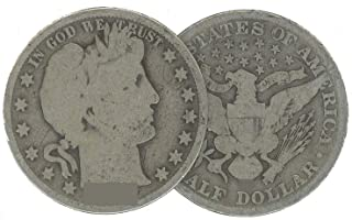 1907 S Barber Half Dollar 50C Average Circulated