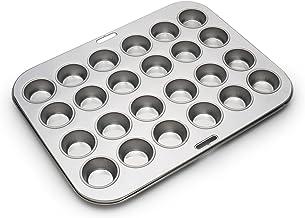 Fox Run 4866 Mini Muffin Pan, 24 Cup, Stainless Steel