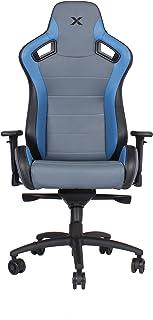 Carbon Line Blue on Grey Sleek Design Gaming & Lifestyle Chair by RapidX