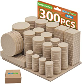 Furniture Pads 300 Pack Premium Furniture Felt Pads...