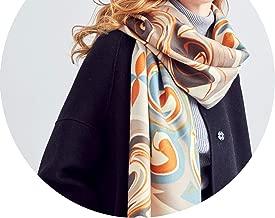 Blue Winter Wool Scarf Women Print Shawl And Scarves Warm Bandana Women Luxury