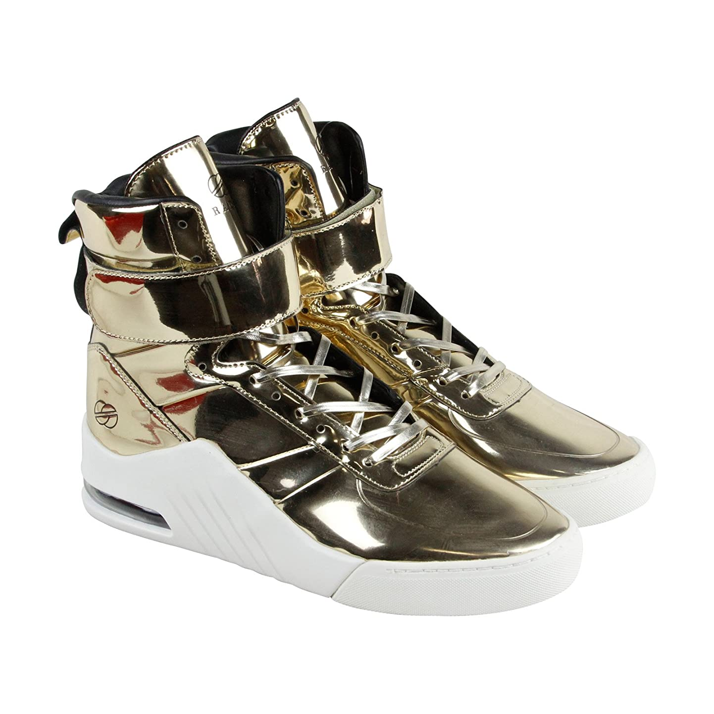 Radii Apex Mens Gold Patent Leather High Top Lace Up Sneakers Shoes ghncuobgrdf5