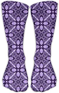 Bigtige, Mujeres Lady Girls Classics Crew Calcetines Vintage Ultra Violet Calcetines deportivos personalizados Calcetines 50cm de largo-Toda la temporada