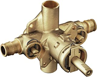 Moen 8375HD Commercial M-DURA Brass Posi-Temp Rough-In Valve with 1/2-Inch PEX Expansion Connections and Integral Stops