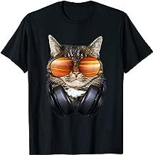 DJ Cat Shirt, Headphones Cat, Funny Cat T-Shirt