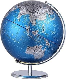 Metal Globe Teaches Students to Use HD Globe Diameter 20CM Office Children's Study Decoration Decoration (Size : 20cm)
