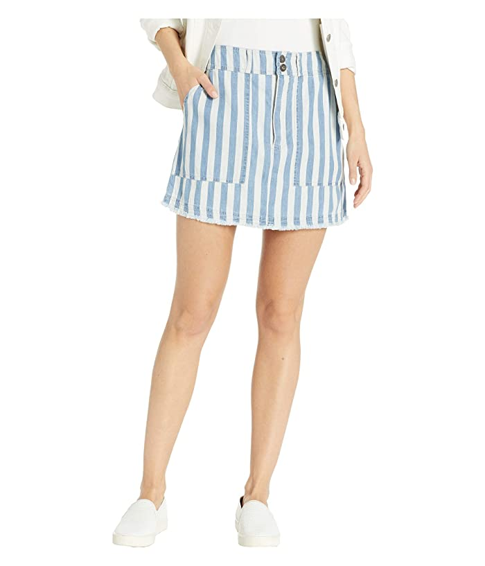 Jack by BB Dakota Say It in Stripes Skirt (Off-White) Women