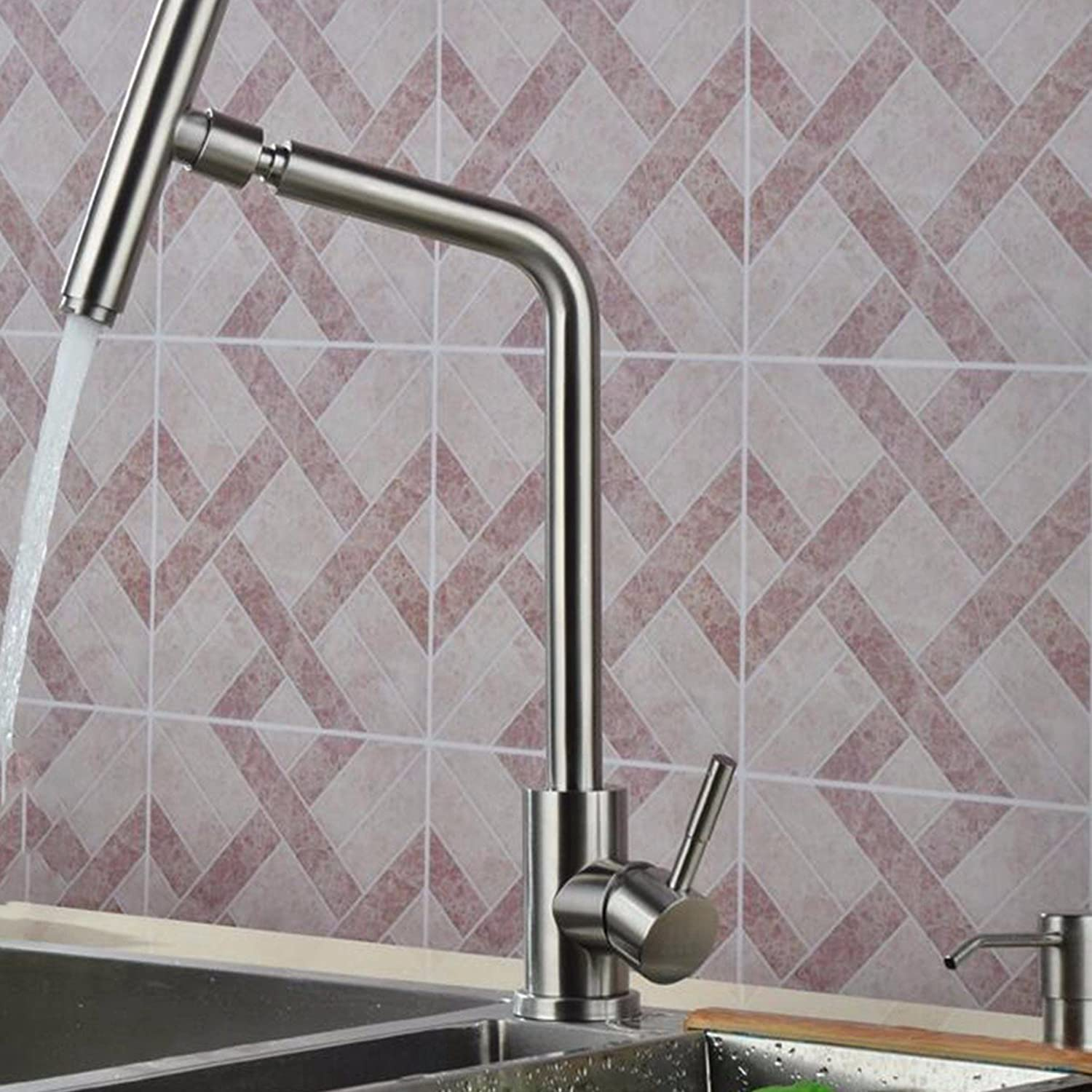 Kitchen faucet 304 Stainless Steel Kitchen Faucet, Single Cold Dish Washing Basin, redating Vegetable Basin Basin, Hot And Cold Faucet.