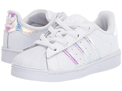 adidas Originals Kids Superstar EL (Infant/Toddler) (White/White) Girl