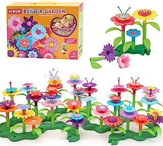 GEMEM Flower Garden Building Toys 148 Pieces Plastic Clay Flowers Kit Stem Toy for Preschool boy and Girl Birthday for Kid...