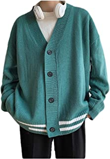 neveraway Mens Loose Fit Buttoned V Neck Sweater Cardigan Jacket Cardigans