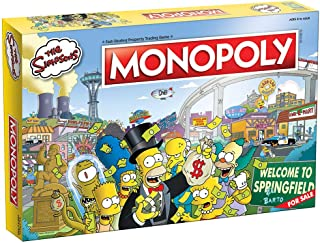 Monopoly The Simpsons Board Game | Based on Fox Series The Simpsons | Collectible Simpsons Merchandise | Themed Classic Monopoly Game