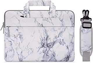 MOSISO Laptop Shoulder Bag Compatible with 13-13.3 inch MacBook Pro, MacBook Air, Notebook Computer, Painting Marble Carrying Briefcase Sleeve Case Cover