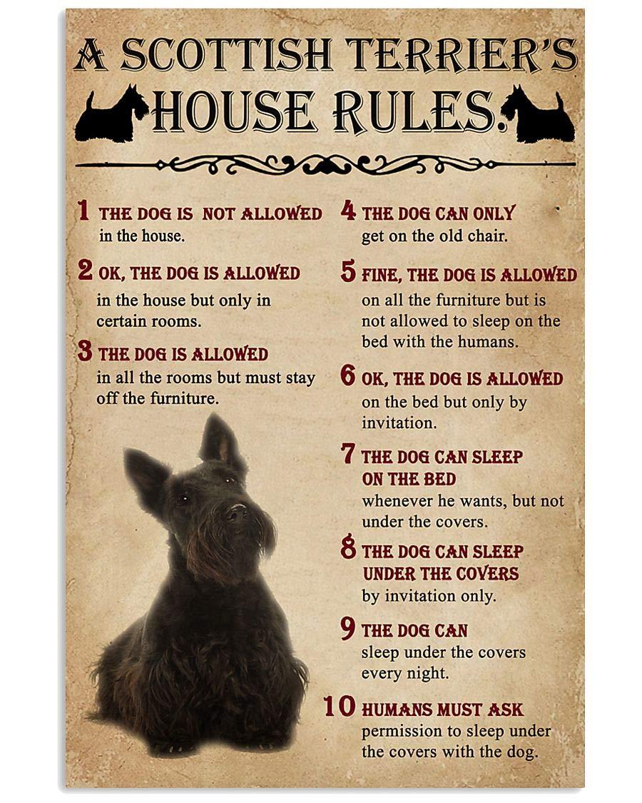The Dog House Rules A Super intense SALE Scottish Wall Brand Cheap Sale Venue Poster Art Terrier P Artwork