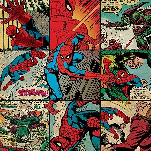 Marvel Comics Canvas de Cuadrados de Spider-Man, Multicolor (40x 40cm