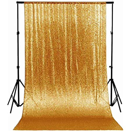 7ft X 7ft Gold Sequin Backdrop Curtain Wedding Party Photo Booth Photography Background Stage Decorations Backdrop Drapes