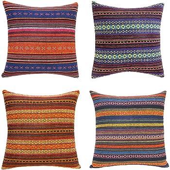 The Pillow Collection len Stripes Throw Pillow Cover