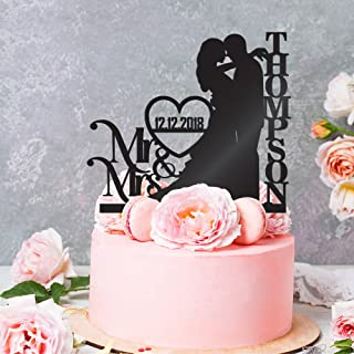 Personalized Wedding Cake Toppers Mr and Mrs Cake Topper   Bride and Groom Cake Toppers Wedding (Mr & Mrs White)