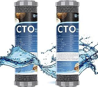 FILTER Cartouches filtrantes à Eau CTO à Charbon Actif en Coque de Noix de Coco de 1 Micron