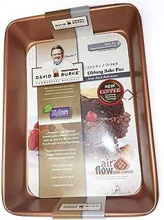 David Burke Kitchen Non-stick Bakeware Oblong Bake Pan 13 x 9 x 2 1/2 inches (COPPER)