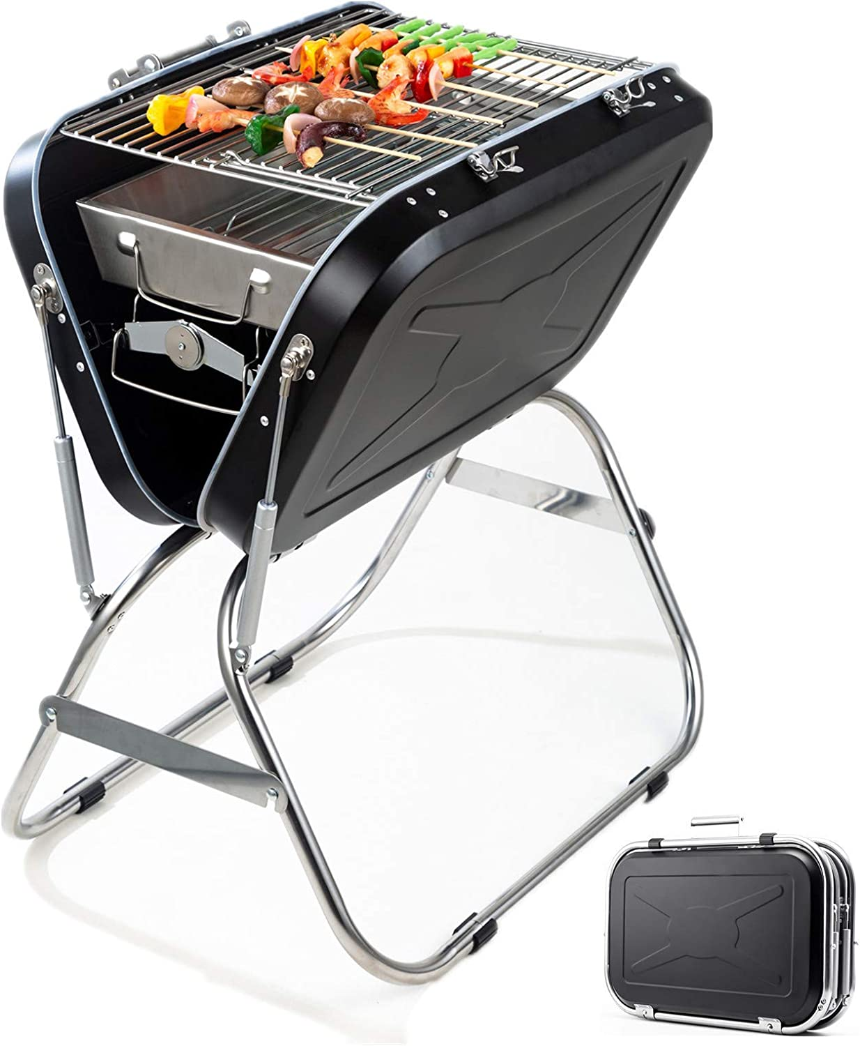 Charcoal Ranking TOP11 Grill Foldable Stainless Cheap mail order shopping Steel BBQ for Outdoor Ca