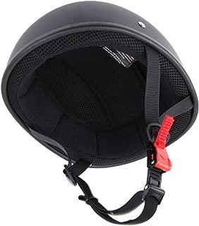 Sange Skid Lid Original Flat Black DOT Half Helmet Motorcycle Beanie (M)