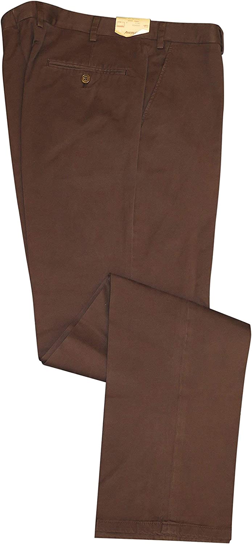 Brioni Men's Brown Brenta Brushed Cotton Casual Dress Pants 36