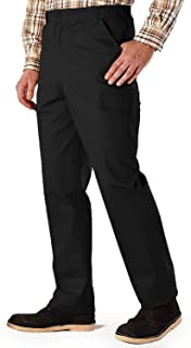 Mens Cotton Cargo Combat Side Elasticated Work Trouser Pants